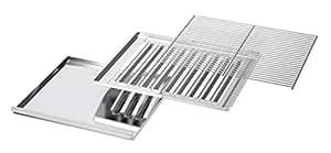 Enders 300247 - Rejilla de acero inoxidable, cajón recoge grasa y cubierta para la llama cromados, indicados para parrillas de 2 o 3 termostatos