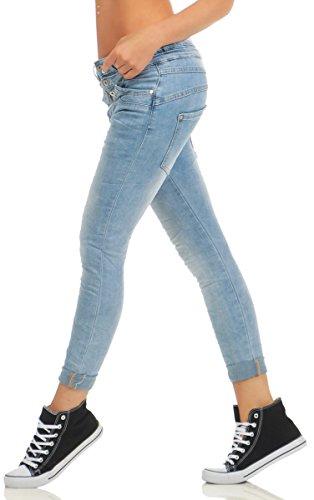df6d23c0e611 10787 MOZZAAR Damen Jeans Röhre Skinny Haremscut Damenjeans Stretch Denim  Ankle  Amazon.de  Bekleidung