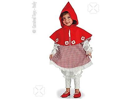Abito Costume Carnevale Bambina Personaggio Cappuccetto Rosso Tgii