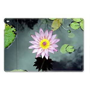 iPad Air Case, Purple Flower Folio Leather Cover with Sleep / Wake Feature for iPad Air 2 / iPad 6