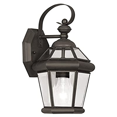 Livex Georgetown 2061-07 Outdoor Wall Lantern - 11H in. Bronze