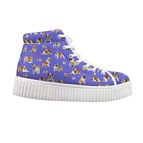 Sneaker Chien Femmes Haute Chaussures 4 Showudesigns Impression Mode couleur Vaches De Personnalisée twHzqU
