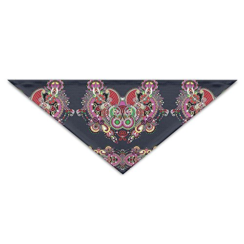 Motifs Bib (Vilike Ukrainian Embroidery Fashioned Ornate Paisley With Unique Features Motif Pet Scarf Dog Triangle Bibs Accessories For Animals)