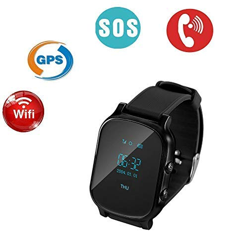 TKSTAR GPS Tracker Smart Watch for Kids Senior,Phone Watch,with Dual Way Call, Real Time Locating SOS Anti-Lost Remote Monitor Watches Support Android ...