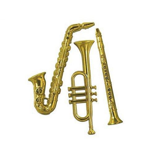 Musical Instrument Cutout Assortment Gold
