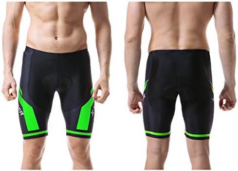 d.Stil Pantaloncini da Ciclismo da Uomo con 3D Gel Pad Pantaloni da Ciclismo Corti Ad Asciugatura Rapida Anti-Sweat