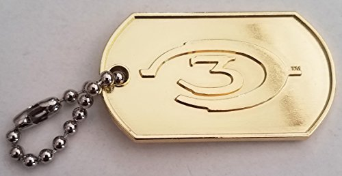 Halo 3 ODST Gold Plated Keychain / Dog Tag (Best Halo 3 Videos)