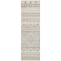 Safavieh Adirondack Collection ADR107B Ivory and Silver Southwestern Bohemian Runner (2\'6\