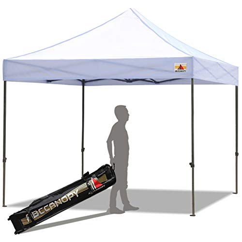 ABCCANOPY 8'x 8' Pop-up Canopy Tent Commercial Instant Tent with 4 Removable SideWalls and Roller Bag,Bonus 4 SandBags(White)