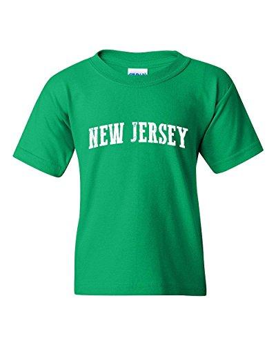 Ugo NJ New Jersey Flag Newark Map Tigers Home of Princeton University Unisex Youth Kids T-Shirt Tee - Jersey Kids New Village