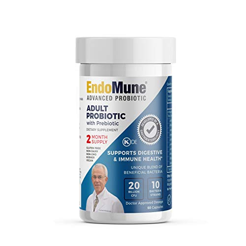 - EndoMune Advanced Adult Probiotic – 60 Capsules | Professionally Formulated to Support Digestive & Immune Health | Enhanced with a Unique Blend of Beneficial Bacteria | 60 Day Supply