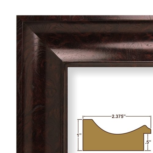 24x36 Craig Frames Picture Frame, Smooth Wood Grain Finish, 2.375