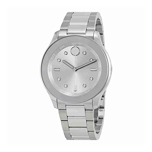 Women's Swiss Quartz Stainless Steel Casual Watch, Color Silver-Toned (Model: ) - Movado 3600415