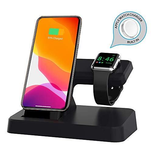 LOZA for Apple Watch Stand Charger, Wireless Magnetic Charging Dock Stand Holder for iWatch with Nightstand Mode for Apple Watch Series 4/3/2/1, Charge Station for iPhone Xs Max/Xs/Xr/X/8/8 Plus