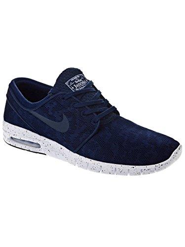 Nike Men's Stefan Janoski Max Midnight Navy/White Ankle-High Skateboarding Shoe - 9M