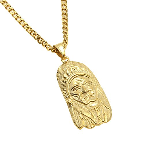 HongBoom Hip Hop Cuban Link Chain 14K Gold - Stainless Steel Cuban Gold Chain