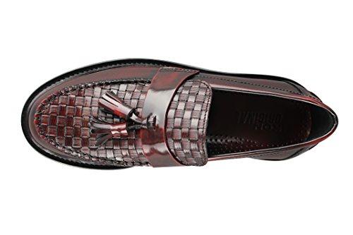 Ikon Schuhe Weaver bordo Polido braun Leder tasselmod Skinhead Slipper Schuhe