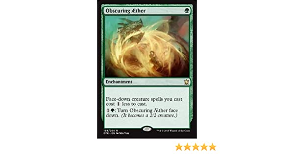 Obscuring Aether MtG Magic the Gathering Dragons of Tarkir Rare Morph