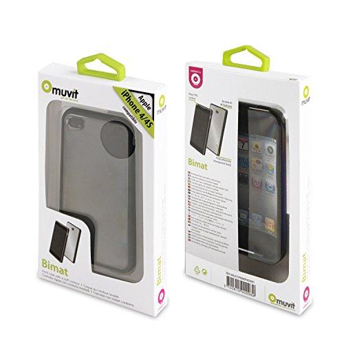 Muvit MUCCPBMIP4G001 Transparente Schutzhülle mit Displayschutzfolie für Apple iPhone 4S