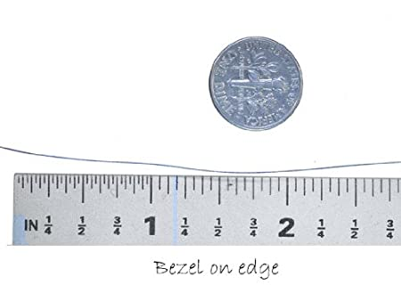 Bezel Wire .999 Fine Silver Flat 1//4 6.35mm Width Qty=12
