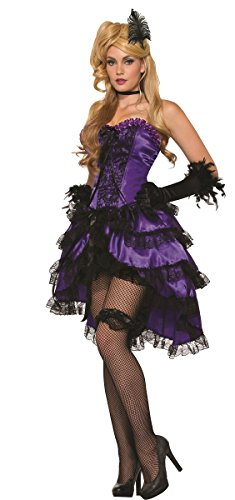 Purple Saloon Girl Costume (Saloon Girl Adult Costume Purple - Standard)