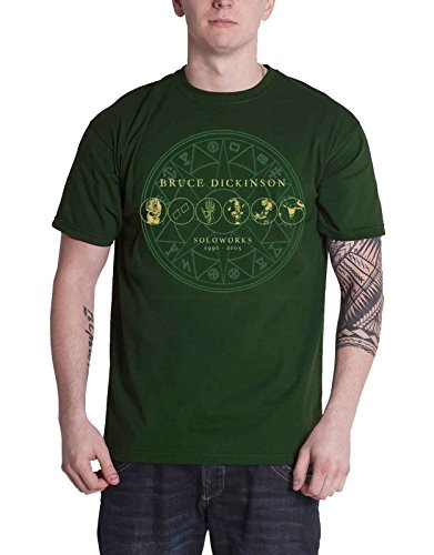 Bruce Dickinson T Shirt Soloworks Iron Maiden Official Mens Green Size XL