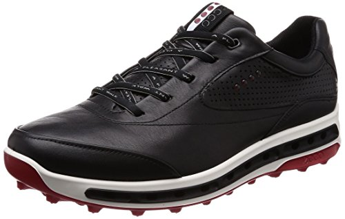 - ECCO Men's Cool Pro Gore-TEX Golf Shoe, Black/Brick, 11 M US