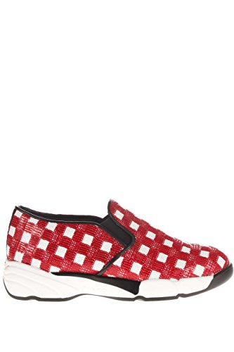 PINKO Damen Sneaker 1h207h-y23z ZR2Jakarta Sneaker Stoff Weiß / Rot