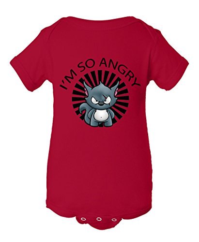 I am so angry Infant Baby Rib Bodysuit Red 18 Months
