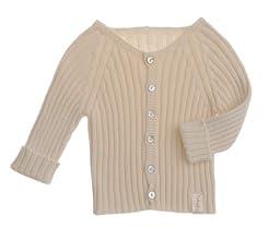 NaturaPura Organic Cotton Knit Sweater, Ecru, size 18/24 mo.