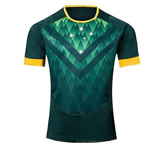 Axdwfd Rugby Suit 2019 Football Uniform, Australia Commemorative Football Jersey Home Jersey Football Uniform Clothing Uniform Uniform Training Short Sleeve (Color : Green, Size : XL)
