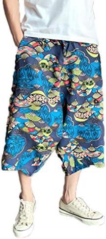 パンツ メンズ ダンス ヒップホップ スウェット 九分丈パンツ サルエル スウェットパンツ カジュアルパンツ メンズ ゆったりパンツ メンズ 大きいサイズ 花柄 サルエルパンツ メンズ 花柄 ダンス 麻パンツ