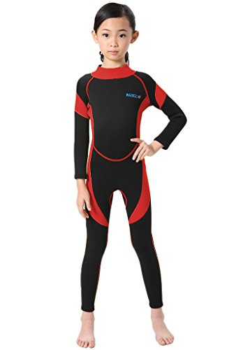 Neoprene Wetsuit One Piece Swimsuit for Kids Boys Girls UV Protection for Swim Surf Snorkel Scuba Diving ()