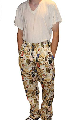 Sand Storm Baggy Chef Pants 100% Cotton XS-6X Vintage, Cupcakes, Chalk Stripe Pockets