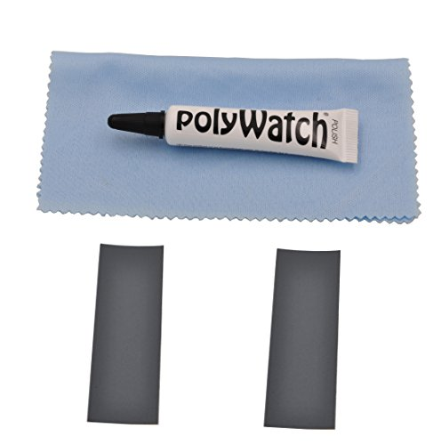 Polywatch Poly Watch Plastic Crystal Glass Polish & Scratch Remover Repair Tool With Sandpaper and Clearn Cloth