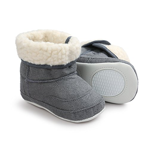 Pictures of Meckior Infant Baby Girls Winter Snow Booties 4