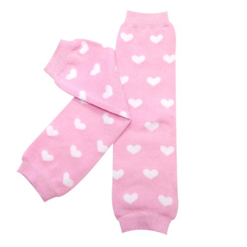 Bowbear Adorable Designs Baby Leg Warmers, Pink and White Hearts (Pink Heart Socks White)