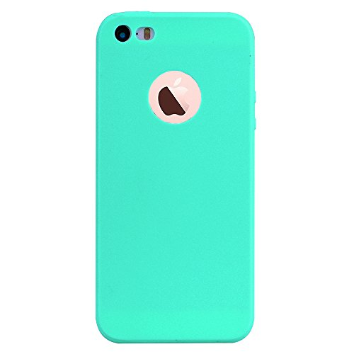 iPhone 5S Case, iPhone 5 Case, iPhone SE Case, Alkax Slim Thin Shockproof Flexible Soft TPU Cover Protection Shell Bumper Rubber Silicone Design Case for Apple iPhone 5 5S SE +Stylus (Teal)