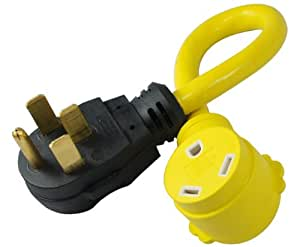 Conntek 14315 50A Male to 30A Female RV Power Pigtail Adapter