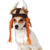 Rubie's Viking Hat with Braids for Pets, Small/Medium
