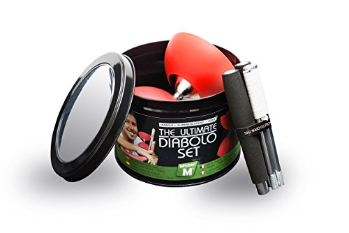 Diabolo + Aluminum Sticks + Free Online Video, All in a Tin Can - The Ulitmate Set (Medium Size - Red) by Mister M (Image #5)