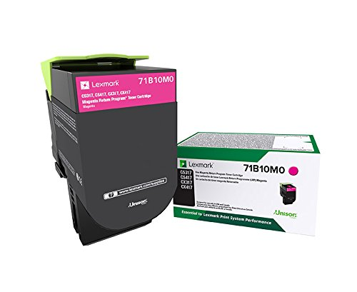 Lexmark 71B10M0 CS317dn CX317dn CS417dn CX417de CS517de CX517de Magenta Return Program Cartridge Toner