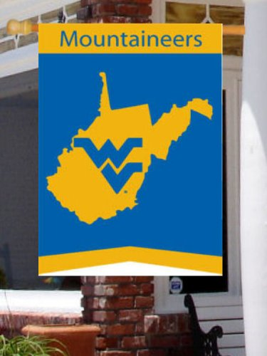 West Virginia State – 28 Inch X 44 Inch Applique Style Large Flag / Banner Review