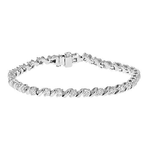 3 cttw SI2-I1 AGS Certified Diamond Bracelet 14K White Gold