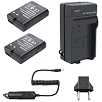 Bonadget 2 Pack Power Battery and Charger for Nikon EN-EL14 EN-EL14a for Nikon D3300 D3200 D3100 D5200 D5300 D5100 D5500