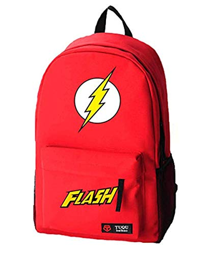 Flash Bag - Mokago The Flashs Logo Backpack Durable Cosplay Red Backpacks (RED)