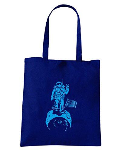 T-Shirtshock - Bolsa para la compra FUN0247 10 13 2012 Moonwalk T SHIRT det Azul Marino