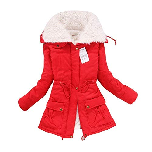 Cardigans for Women Casual Womens Plus Size Long Sleeve Cardigan Jacket Outwear(Red Medium)
