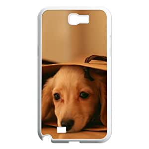 Case for Samsung Galaxy Note 2, Miniature Dachshund (Mini Dog) Case for Samsung Galaxy Note 2, Naza White