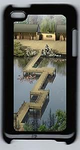 3D Landscape With Bridge Polycarbonate Hard Case Cover for iPod 4 ¡§CBlack